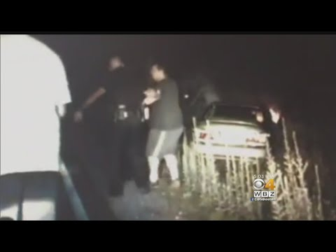 Driver Pulled From Burning Vehicle By Police Officers