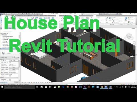 AutoDesk Revit Complete House Plan Tutorial part 1
