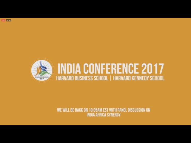 LIVE Event || Indian Conference 2017  || Harward University || USA