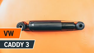 How to change rear shock absorbers on VW CADDY 3 TUTORIAL | AUTODOC