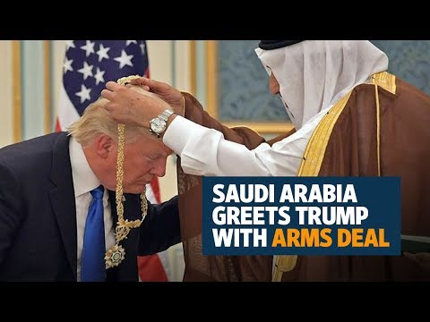 Saudi Arabia greets Donald Trump with billions of dollars of deals