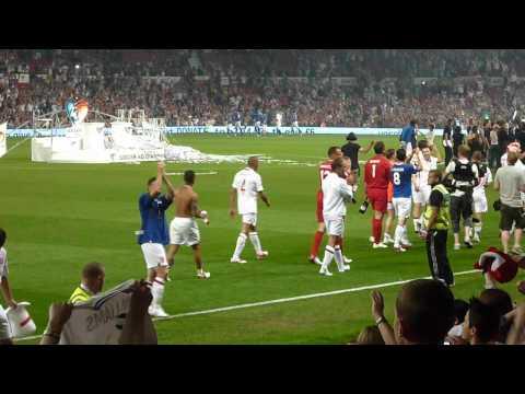 Soccer Aid 2012; England celebrating