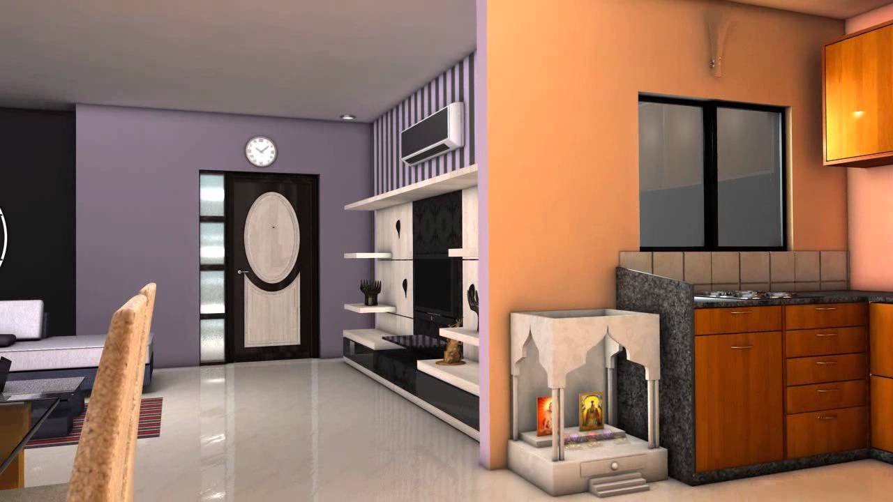 2 bhk apartments walkthrough youtube for Interior designs for flats
