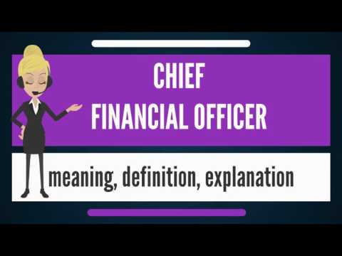 What is CHIEF FINANCIAL OFFICER? What does CHIEF FINANCIAL OFFICER mean?