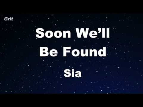 Soon We'll Be Found - Sia Karaoke 【No Guide Melody】 Instrumental
