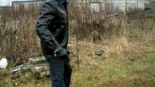 Испытание травматического оружия на себе (ИЖ-79-9T)