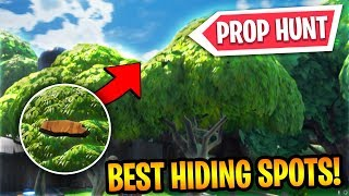 HOW TO PLAY FORTNITE PROP HUNT AND THE BEST HIDING SPOTS! (Fortnite Prop Hunt Best Hiding Spots)