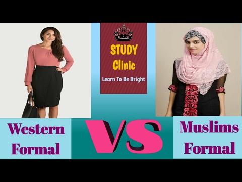 Formal Dress for Muslim Female | Western Formal Dress for Female | Western VS Muslims