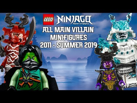 Ninjago Masters of Spinjitzu: All Main Villain Minifigures (2011 - Summer 2019)