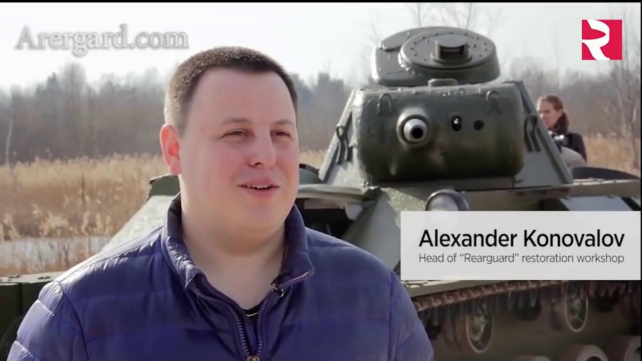 Восстановлен Танк Т-70М / restored tank T-70M