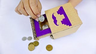 How to Make Coin Bank Box for Kids