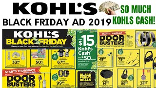KOHLS BLACK FRIDAY AD 2019 So Many KOHLS CASH DEALS!
