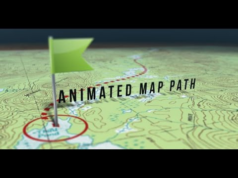 Animated Map Path After Effects template - YouTube