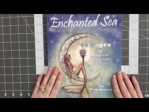 Enchanted Sea Mermaid Coloring Book in Grayscale by Molly Harrison