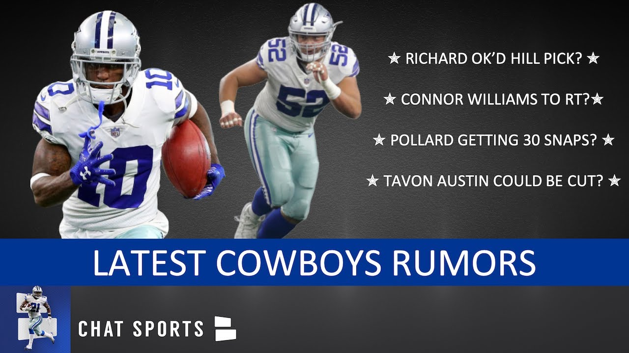 outlet store fbd8c 98cc0 Cowboys Rumors: Connor Williams, Tony Pollard vs. Tavon Austin & Kris  Richard Wanted Trysten Hill?