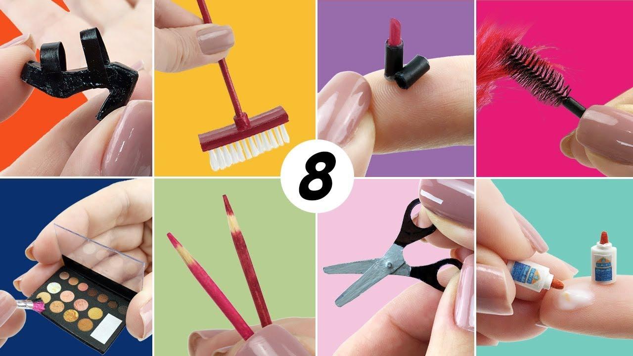 8 Coisas Fáceis De Fazer Para Boneca Barbie Diy Miniatura Youtube