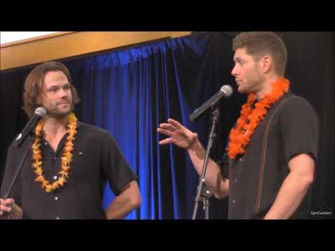 HonCon Jared Padalecki and Jensen Ackles GOLD FULL Panel 2017 Supernatural