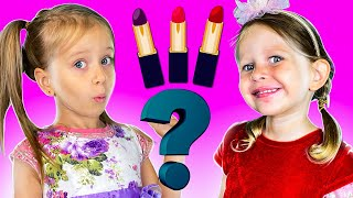 Three Kids pretend play Make Up Toys