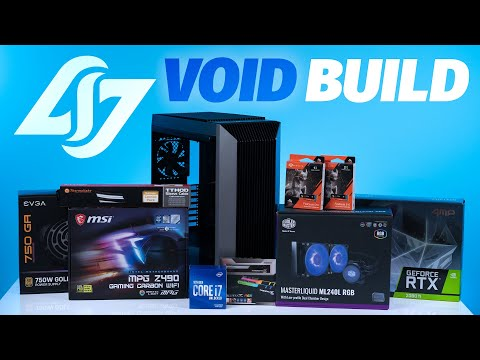 How To Build a PC - Giveaways + CLG VOID Custom Build $3500 Intel 10700k / 2080TI