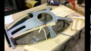 Star Trek The Next Generation D Bridge Model In The Making  Part 1