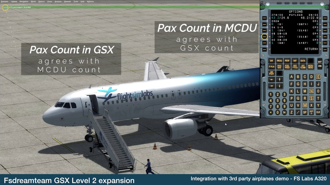 simMarket: FSDREAMTEAM - GSX LEVEL 2 EXPANSION FSX P3D