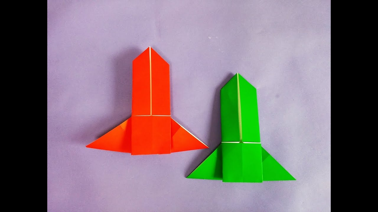 ��� ���� ������� how to make easy paper origami rocket youtube