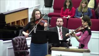 The Old Rugged Cross (violin duet)