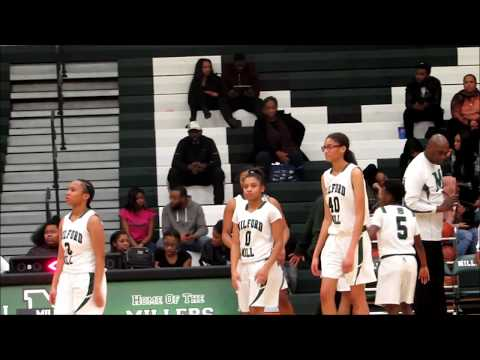 Milford Mill Academy Girls Basketball Highlights against Woodlawn  Playoff Game 2018