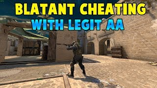 CS:GO - Blatant Cheating with Legit AA - Testing Overwatch #1
