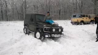 Девушка проехала на капоте Гелика!(Первая часть маршрута проходившего через зимний лес была завершена. Во всяком случае для нашей компании...., 2017-01-15T00:25:12.000Z)