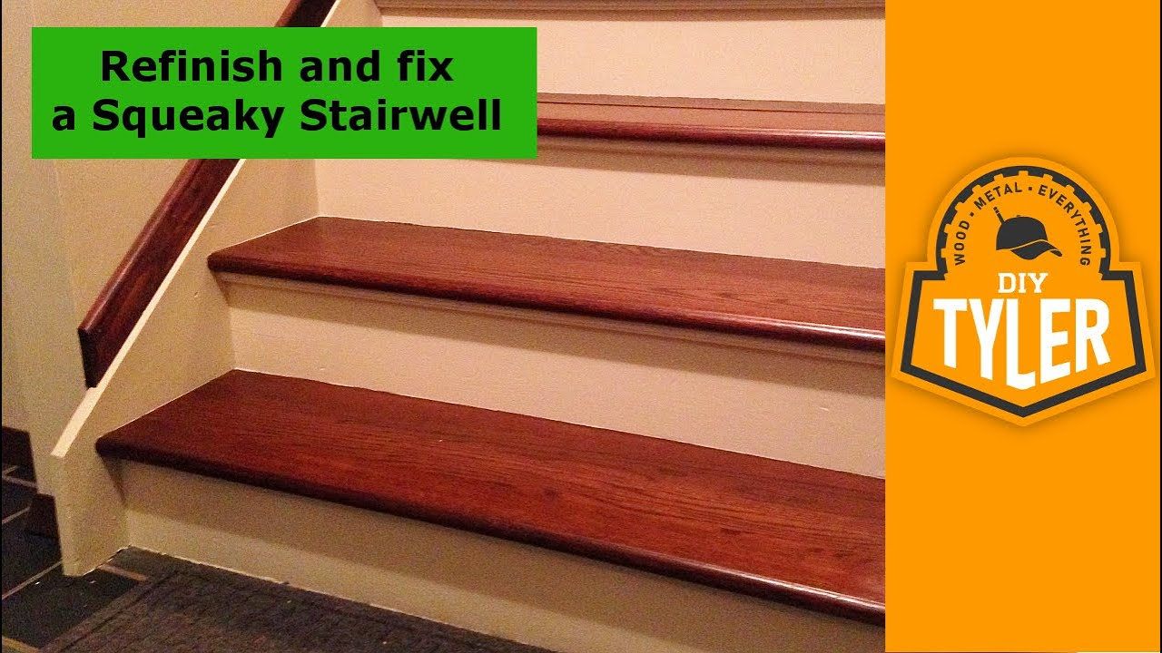 Fix and Refinish a Squeaky Staircase 012  YouTube