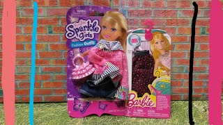 Fashion Friday: Funville Sparkle Girlz Pink Layered Shirt & Shorts + Barbie Skirt Separate FAIL!