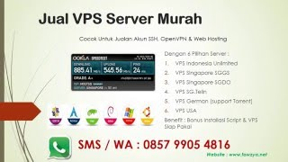 Jual VPS Linux Murah - Server Indonesia IIX, Singapore SGGS, SGDO, SGTelin USA, & German Unlimited