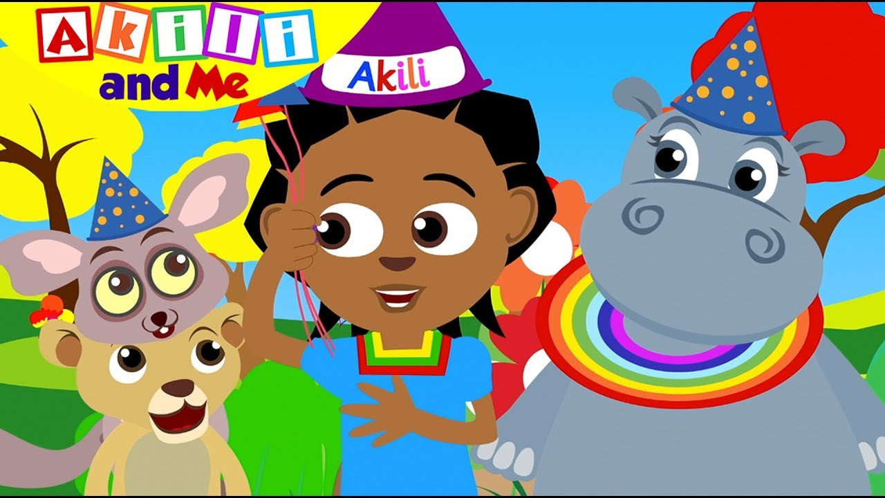 WE ARE TWO TODAY!   Celebrate Akili and Me's Birthday   Cartoons for Preschoolers