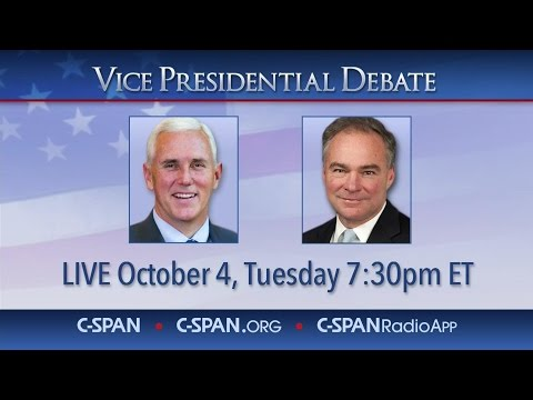 VICE PRESIDENTIAL DEBATE SPLIT SCREEN (C-SPAN)