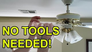 How to fix a wobbly ceiling fan - no tools needed!