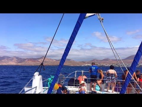 Catamaran Sailing to Playa Papagayo Beach, Lanzarote
