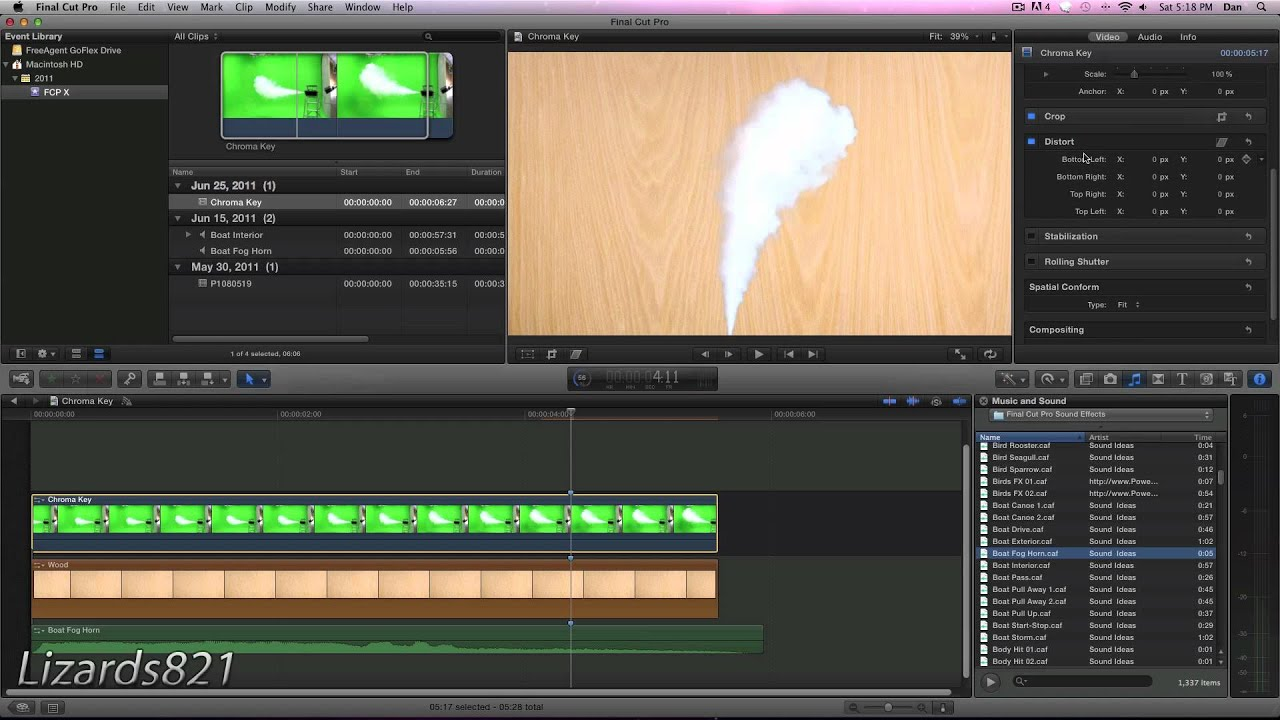 How To Use The Chroma Key Green Screen Feature In Final Cut Pro X Final Cut Wonderhowto