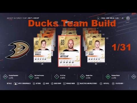 NHL 19 HUT - Anaheim Ducks Team Build