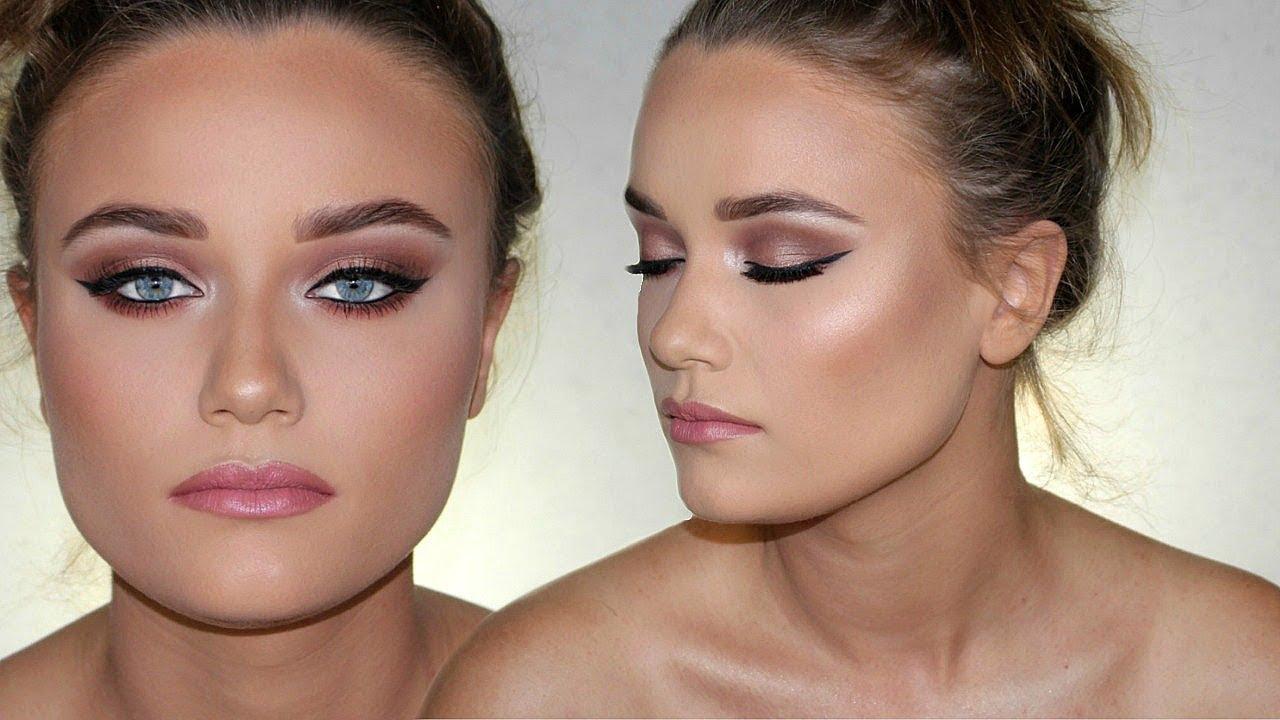 how to make blue eyes pop! client prom makeup tutorial ♡ makeupmejordyn