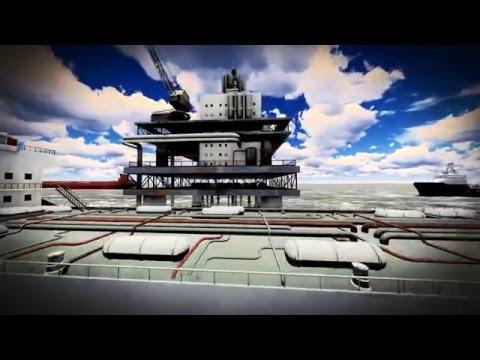 LUMION 6 PRO:  Flyover  OIL RIG PLATFORM