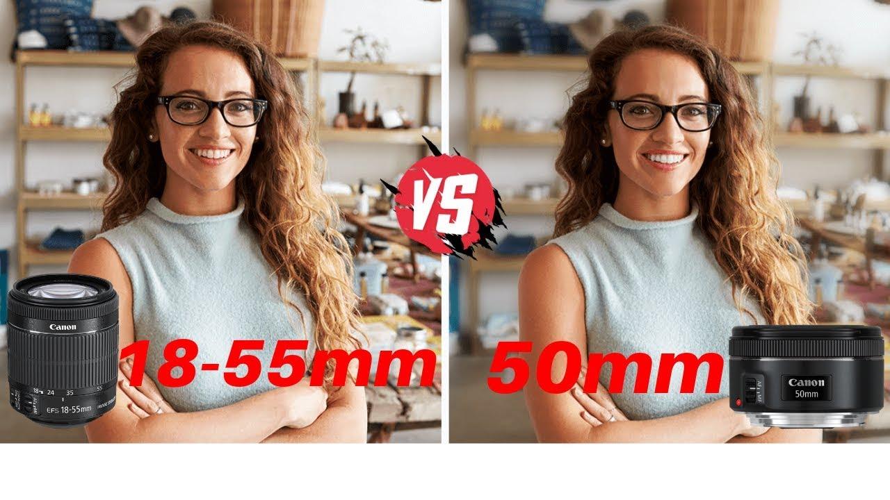 Canon 50mm Prime Lens Vs 18-55mm Kit Lens | Nifty Fifty Vs Zoom Lens