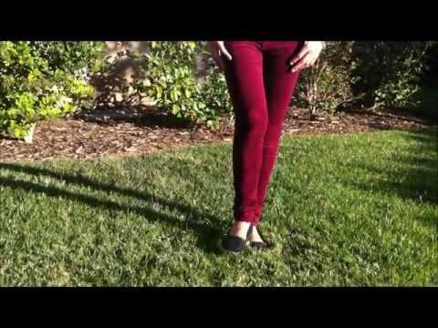 How I Wear: Maroon Corduroy Pants