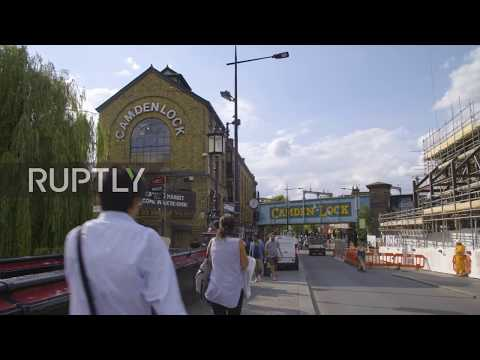 UK: Sellers at Camden Market keep calm and carry on after tourist site hit by fire