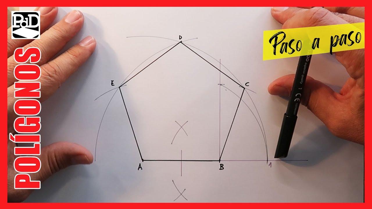 Cómo Dibujar Un Pentágono Partiendo De La Medida Del Lado Polígonos Dibujo Técnico Youtube