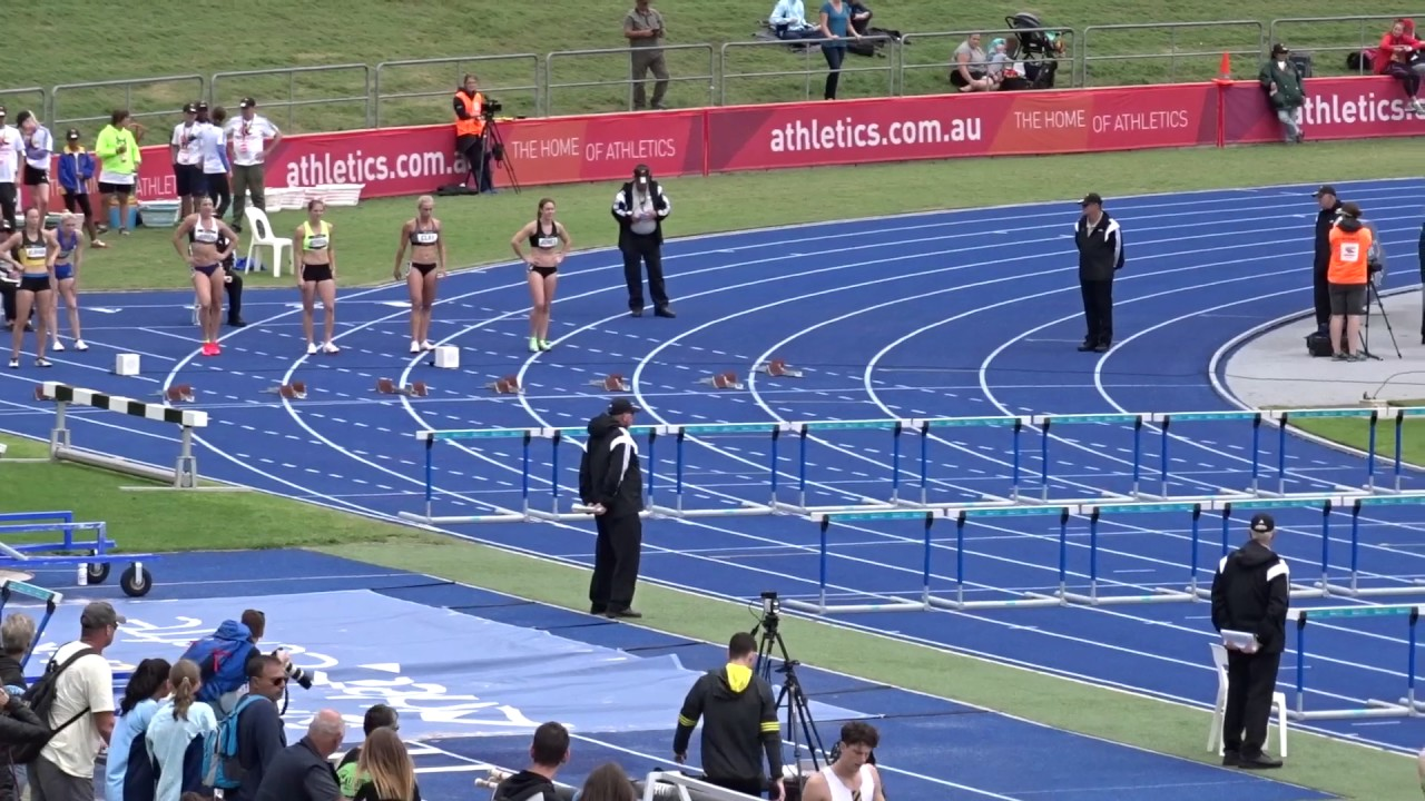 Open 100m Hurdles Women Final Australian Athletics Championships Olympic Park Sydney 2 04 2017