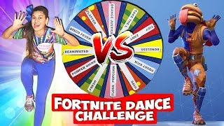 FORTNITE DANCE IN REAL LIFE (DANCE MYSTERY WHEEL CHALLENGE)