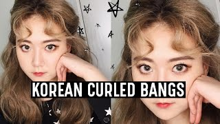 """How to Korean Curled Bangs (Taeyeon """"My Voice"""" Hairstyle) 