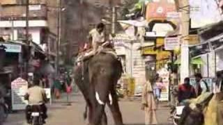 Bundi city palace and market (Rajasthan)