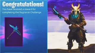 "STAGE 4 ""RAGNAROK MASK"" UNLOCKED! LEVEL 60 ""PERMAFROST"" Pickaxe Unlocked! Fortnite Tier 100 SKIN"